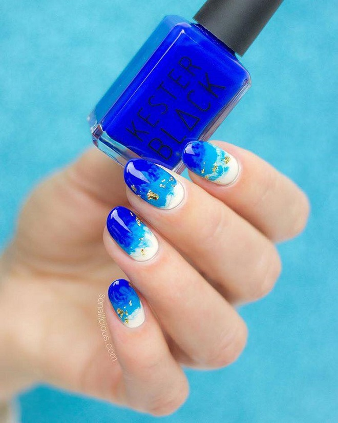 15 Nail Trends You Need to Sport This Summer blue white