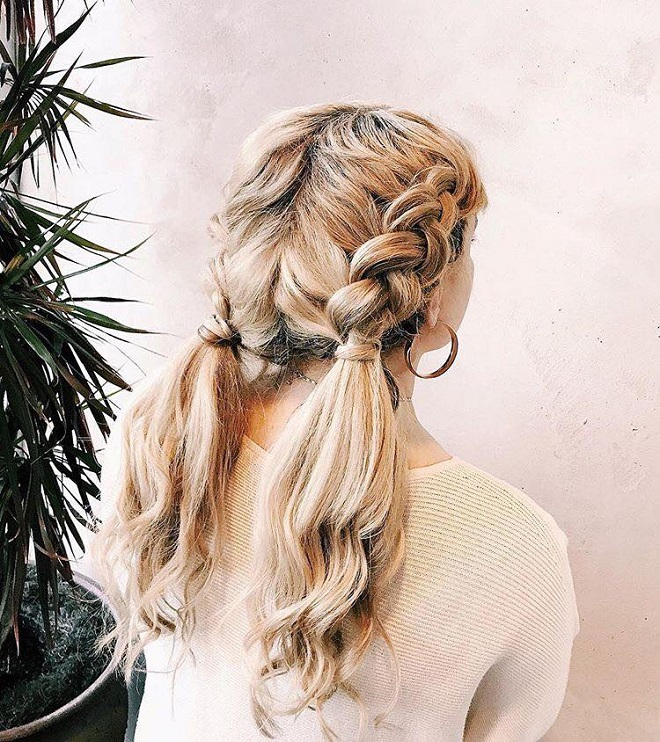 15 Trending Hairstyles for Summer 2018 double braids