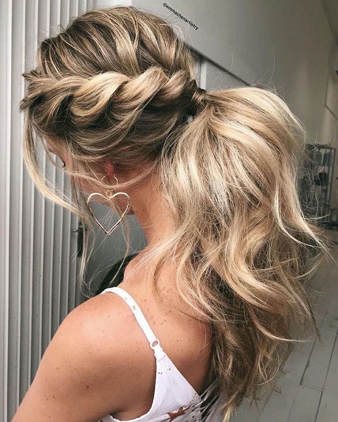 15 Trending Hairstyles for Summer 2018 side knots