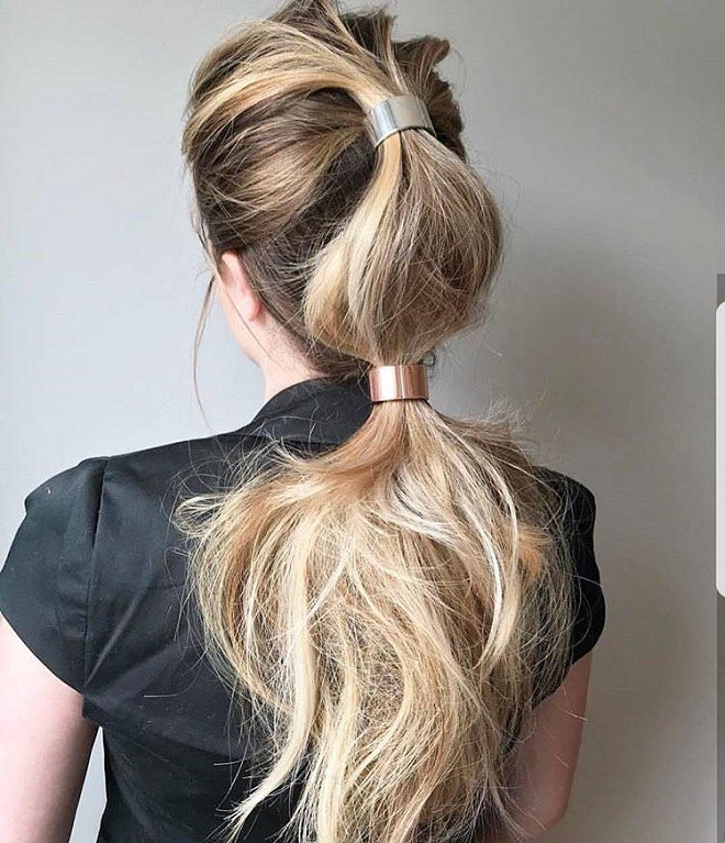 15 Trending Hairstyles for Summer 2018 metal accessories