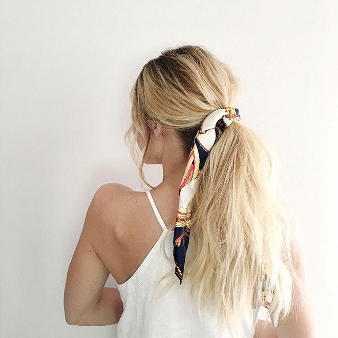 15 Trending Hairstyles for Summer 2018 hair scarf