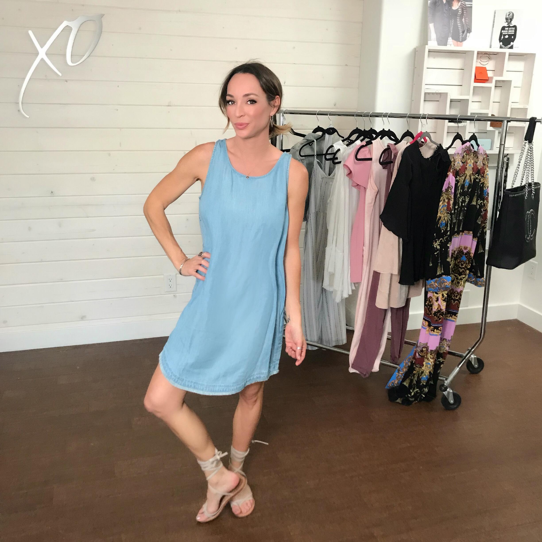 Kim_Xo_Celebrity_Stylist_VIVA_GLAM_Palm_Denim_Dress