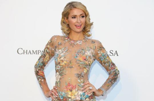 Paris Hilton Showcases Her Sizzling Figure at the amfAR Gala