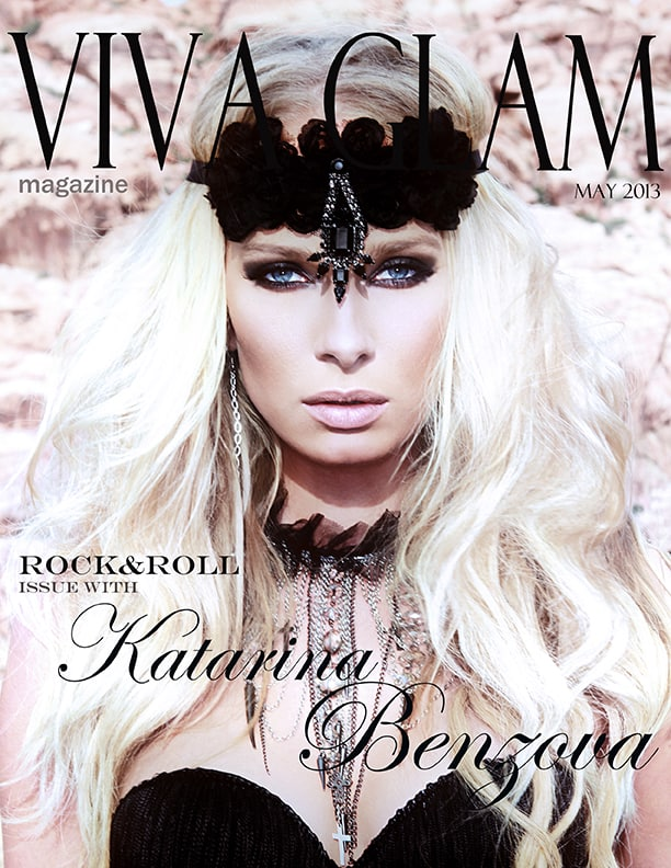 katarina benzova on the cover of viva glam magazine