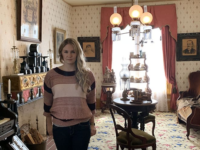historic-whaley-house-interview-americas-most-haunted-house-dean-glass-malorie-mackey-parlor-living-room-malorie