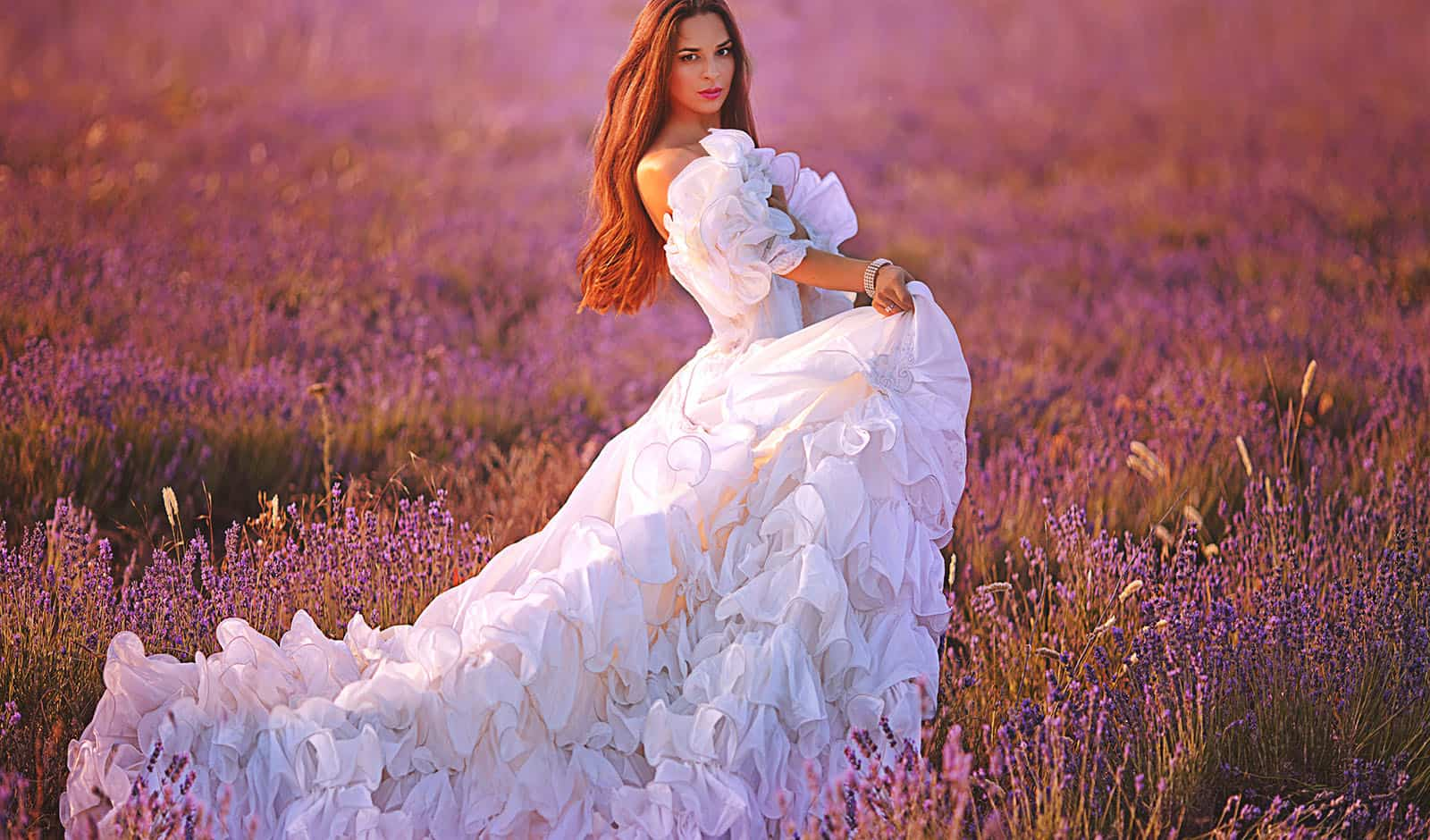 brides-woman-in-off-the-shoulder-wedding-gown