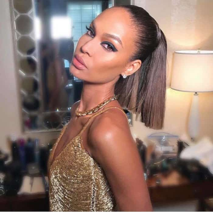 The Sexiest Celebrity Makeup Looks To Copy This Summer Joan smalls bold eyeliner
