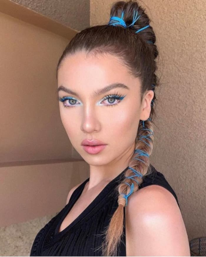 X Insanely Sexy Celeb Updos For Hot AF Weather pony with side braids