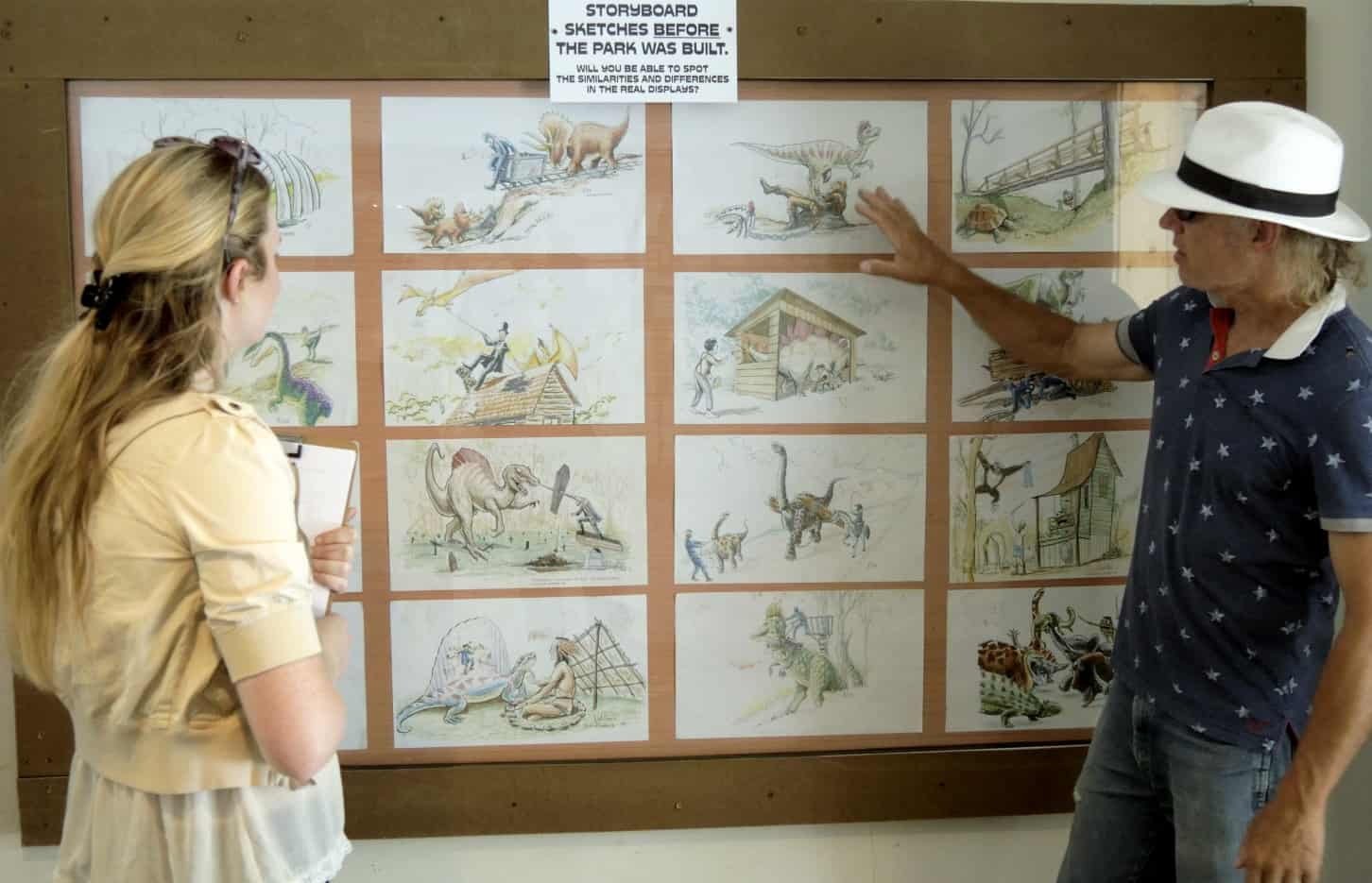 Mark-Cline's-Dinosaur-Kingdom-II-Combines-Civil-War-Soldiers-with-Dinosaurs-mark-cline-with-his-park-storyboard