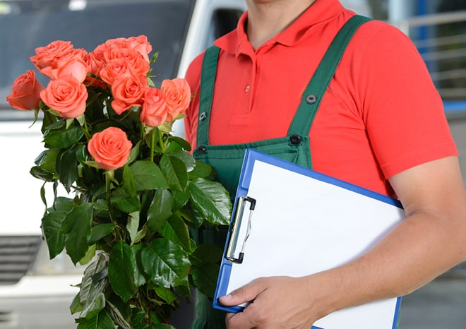Things-To-Consider-When-Using-A-Flower-Delivery-Sydney-Service-flower-delivery-person