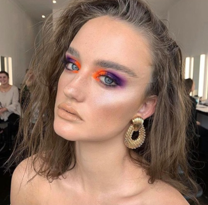 Color Blocking Summer Makeup 6