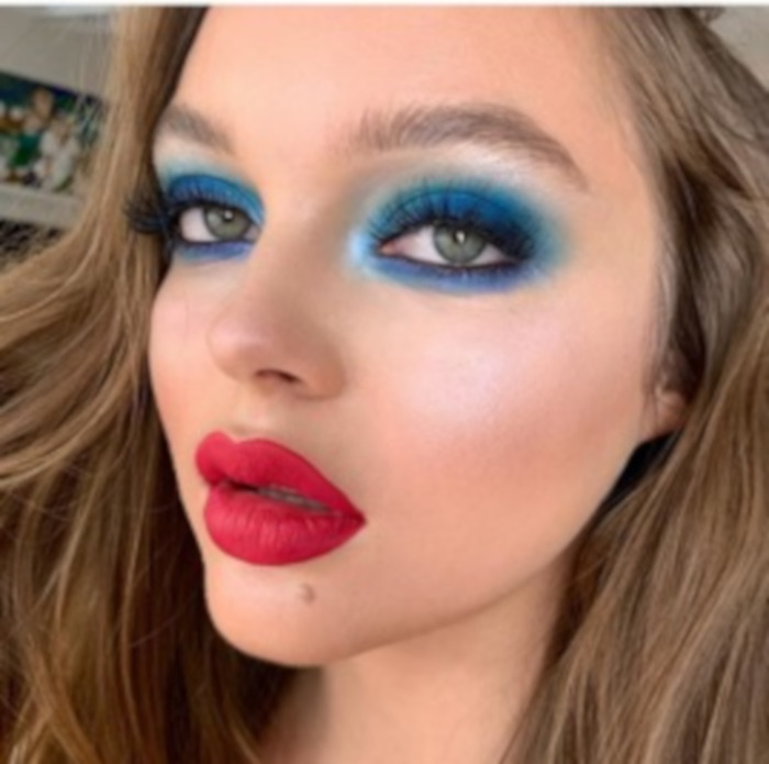 Color Blocking Summer Makeup 8