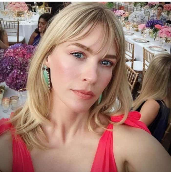 Everyone in Hollywood is Getting Curtain Bangs For Fall 2019 January Jones