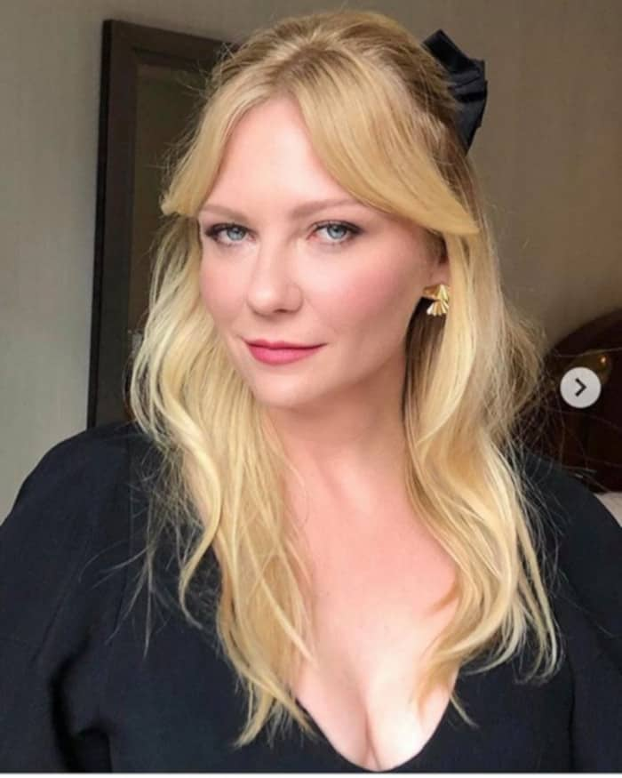 Everyone in Hollywood is Getting Curtain Bangs For Fall 2019 Kirsten Dunst