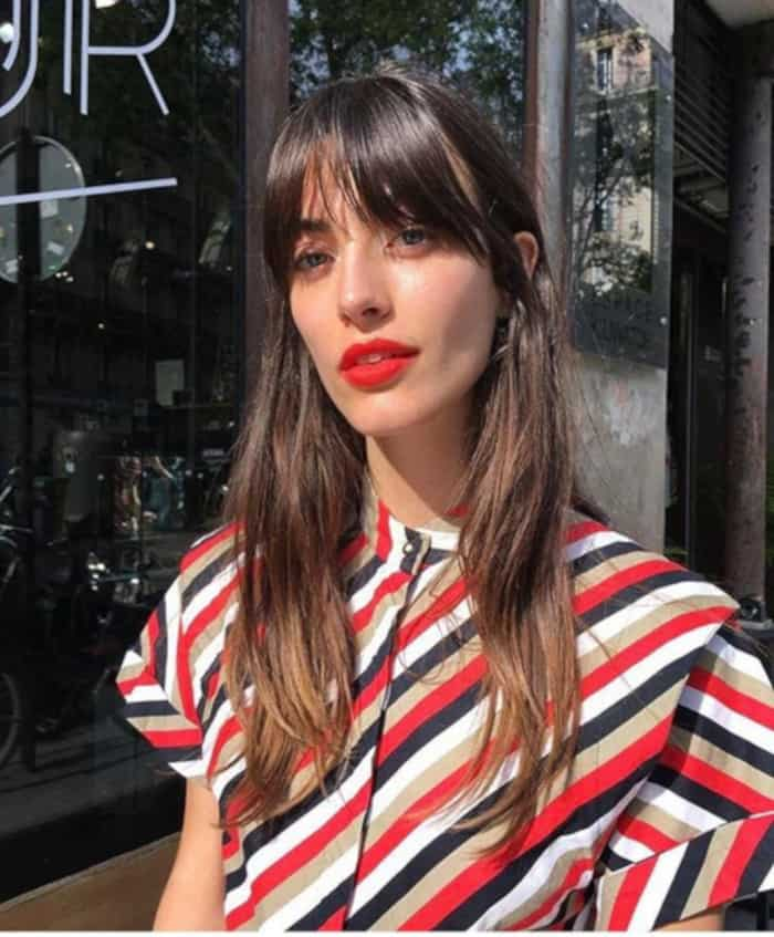 Everyone in Hollywood is Getting Curtain Bangs For Fall 2019 Louise Follain