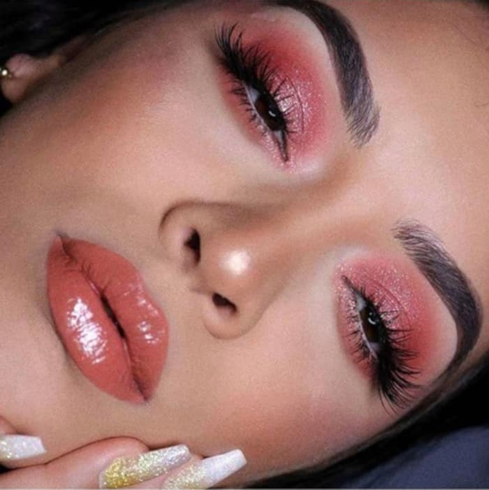 Living Coral Summer Makeup Looks 1