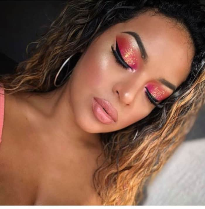 Living Coral Summer Makeup Looks 5