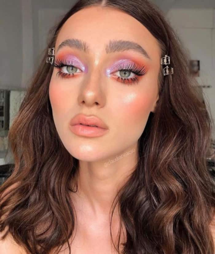 Living Coral Summer Makeup Looks 7