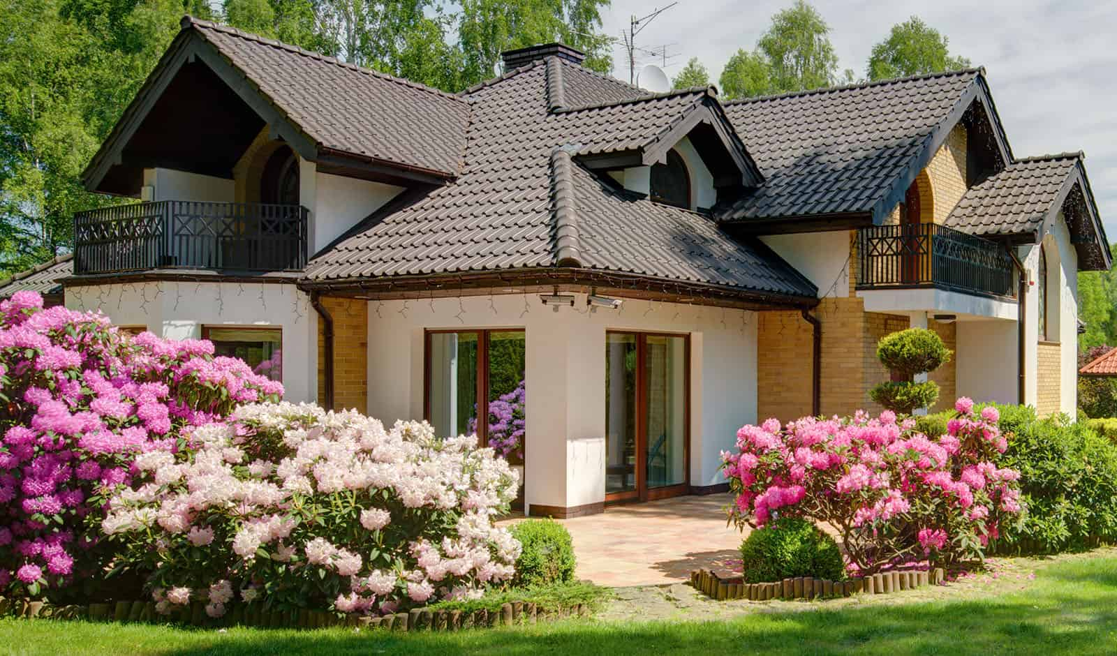 House with beautiful garden