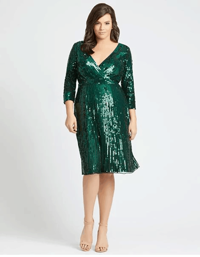 green sparkly homecoming dress