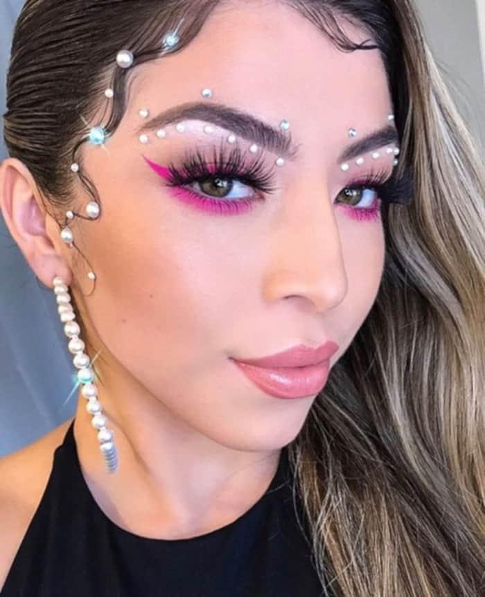 bedazzled makeup trend