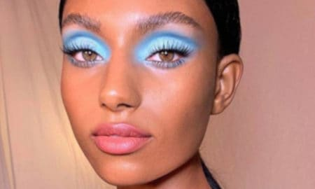 blue makeup looks for fall
