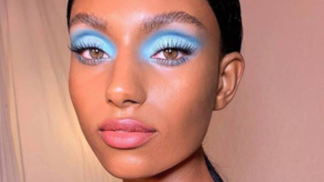 blue makeup looks for fall 6