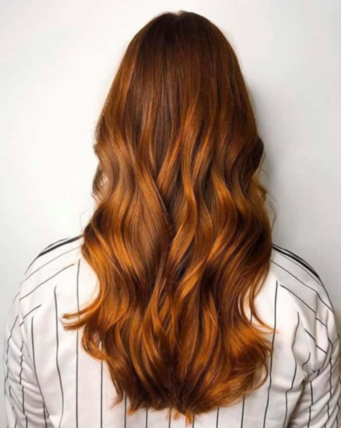 cinnamon spice fall hair trend 2