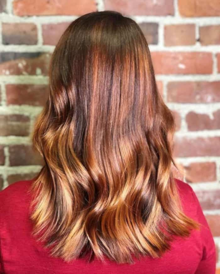 cinnamon spice fall hair trend