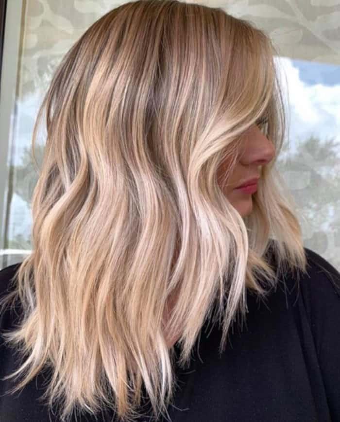tweed balayage hair color trend 1