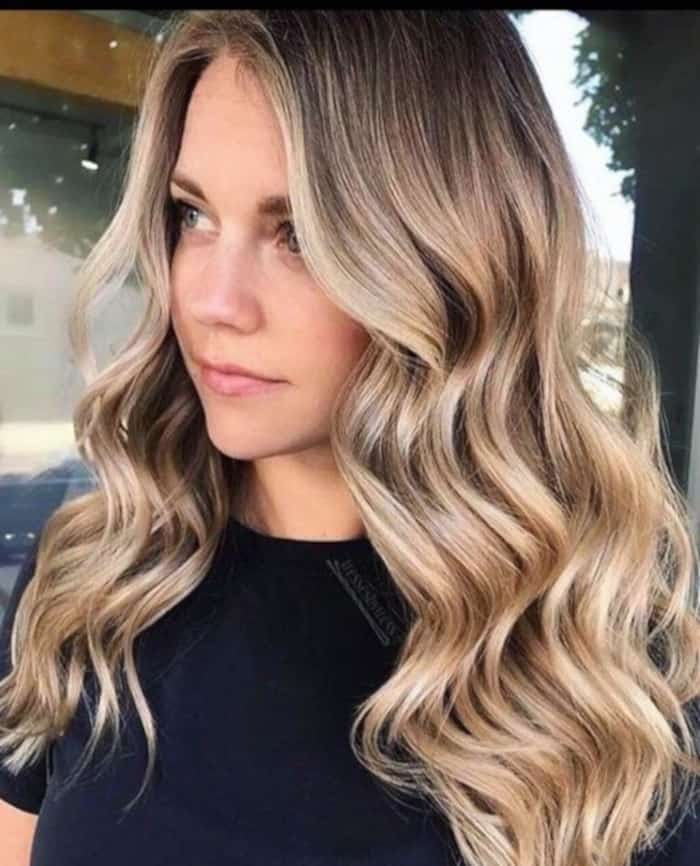 tweed balayage hair color trend 2