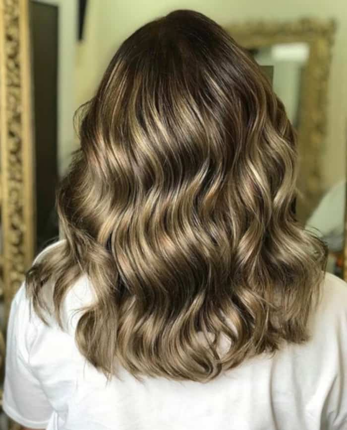 tweed balayage hair color trend 3