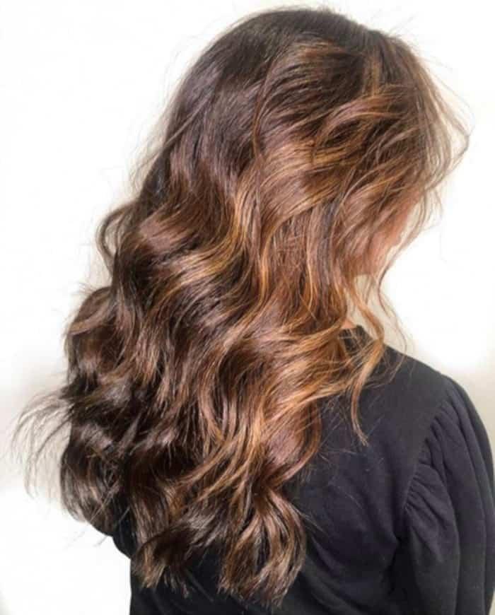 tweed balayage hair color trend 4