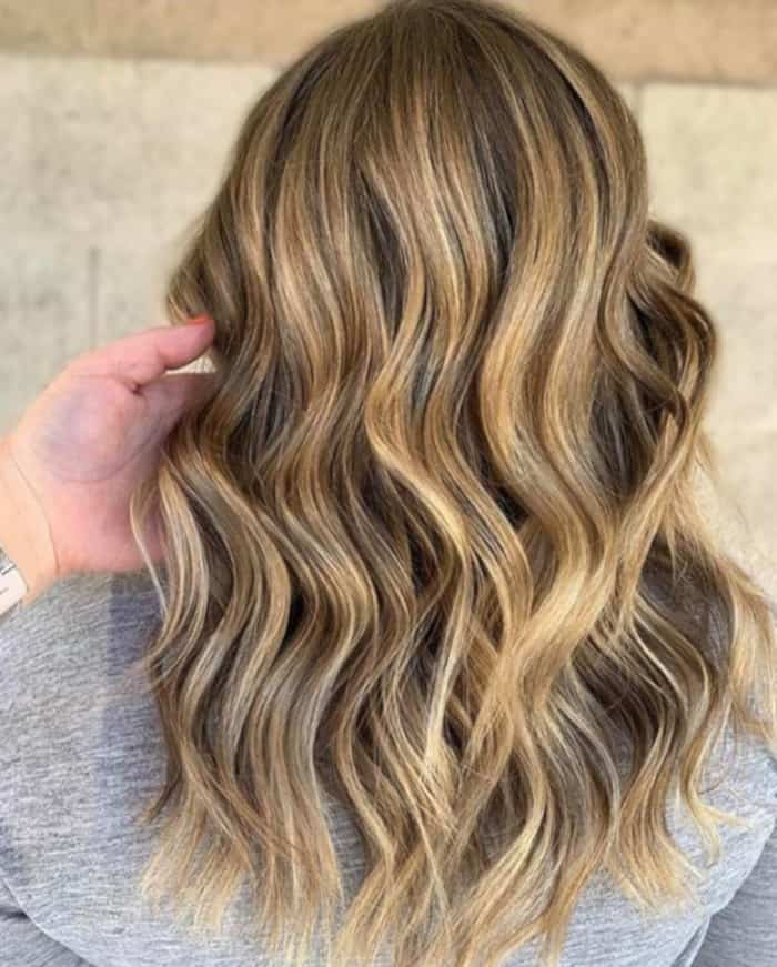 tweed balayage hair color trend 5