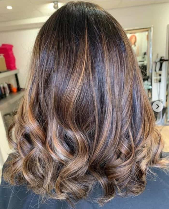 tweed balayage hair color trend 6