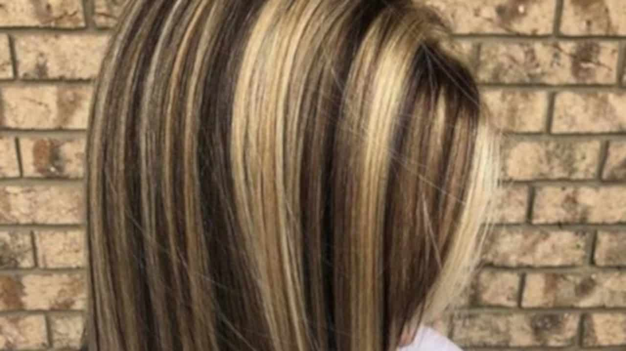 chunky highlights hair trend 8
