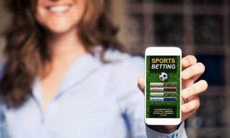 woman betting on sports