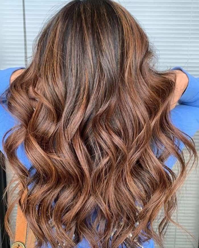 chocolate orange hair trend