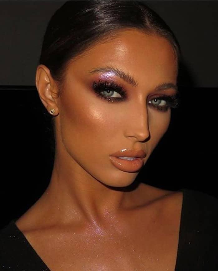 brow bone highlight makeup looks