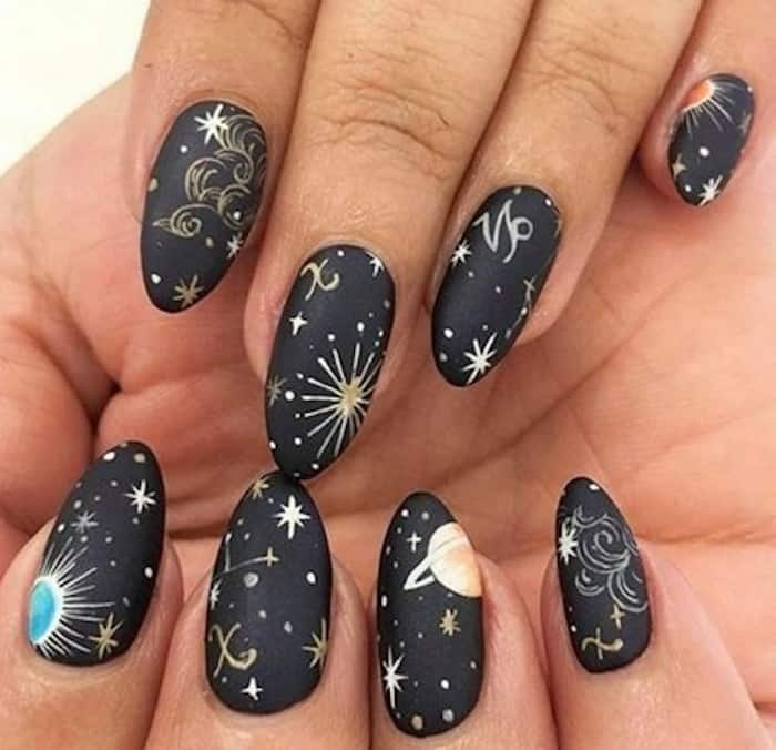 zodiac signs inspired nails 2