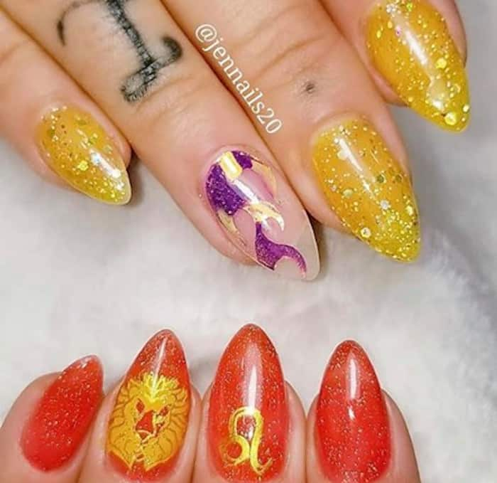zodiac signs inspired nails 6