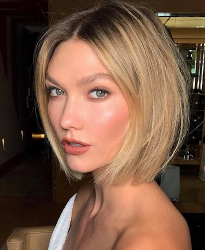 blonde hair with dark roots hollywood hair color trend