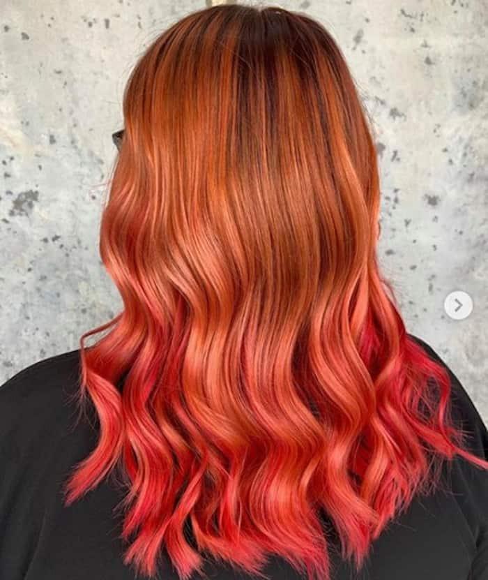 burnt orange hair color trend