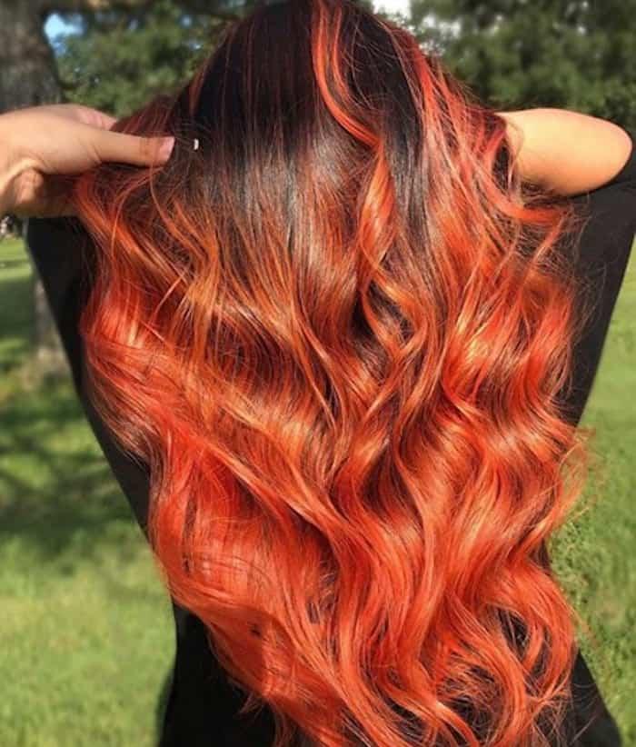 burnt orange hair color trend 8