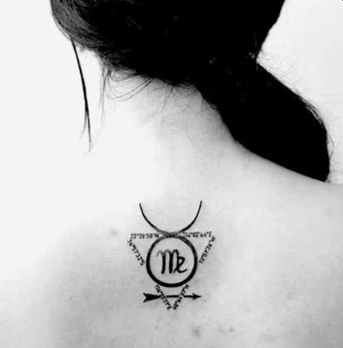 cute zodiac signs tattoo for women 6