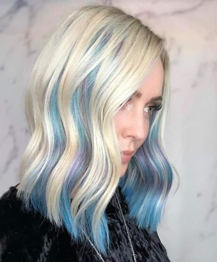 inverted hair color trend peekaboo hair