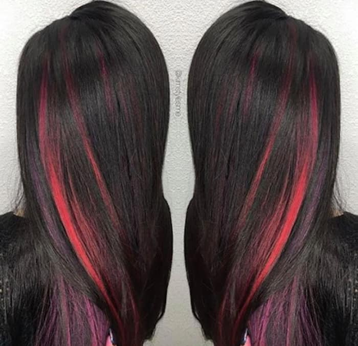 inverted hair color trend peekaboo hair 10