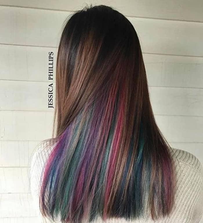 inverted hair color trend peekaboo hair 4