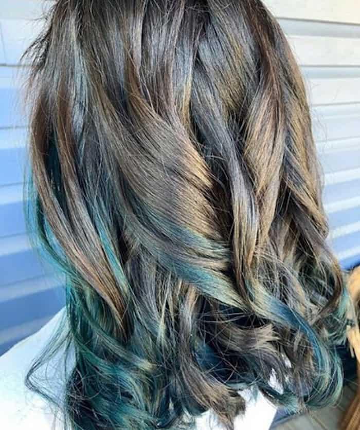 inverted hair color trend peekaboo hair 6