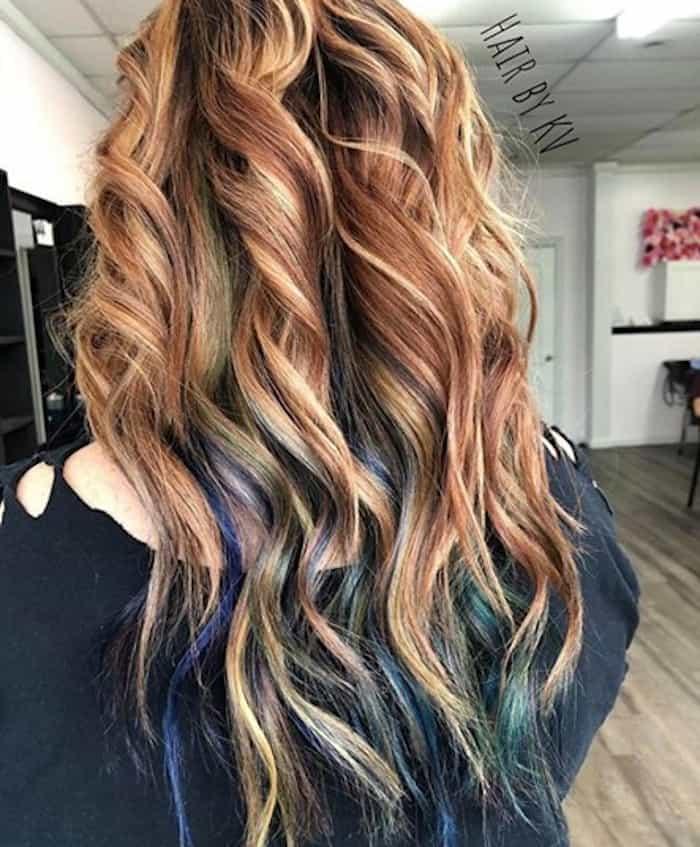 inverted hair color trend peekaboo hair 7